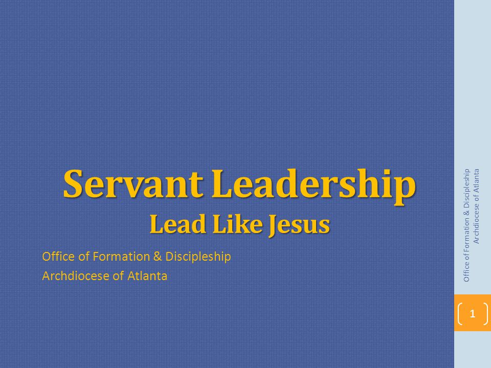 Servant Leadership Lead Like Jesus