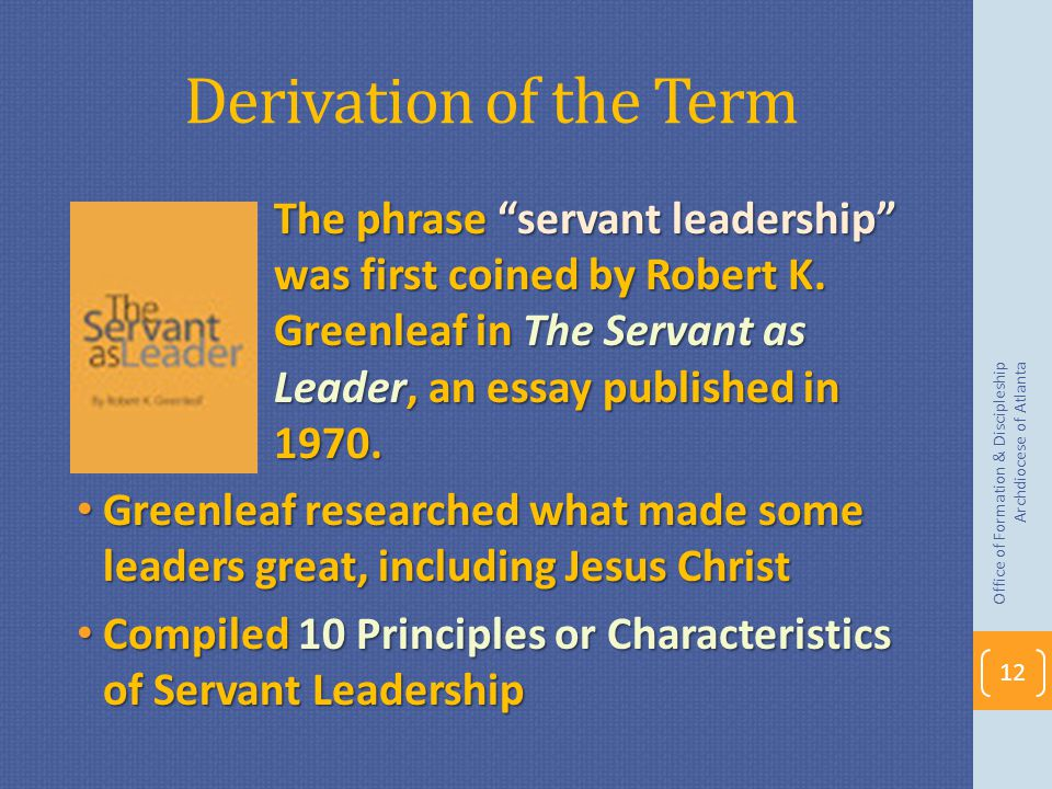 Derivation of the Term