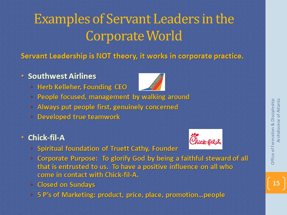 Examples of Servant Leaders in the Corporate World