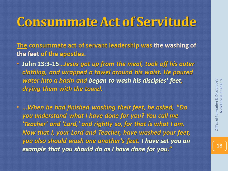 Consummate Act of Servitude