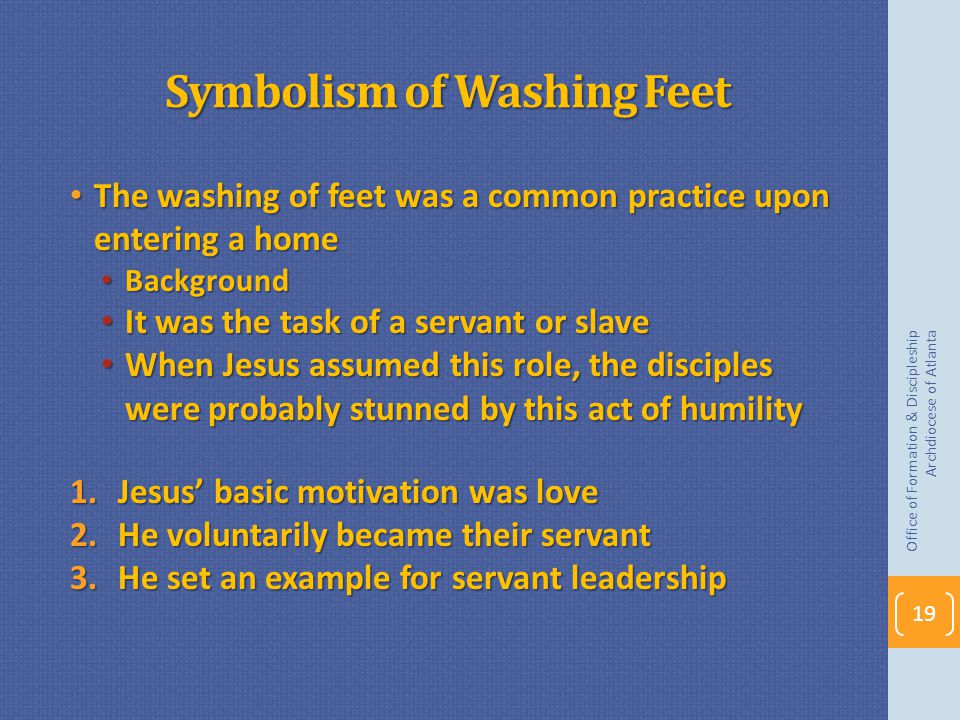 Symbolism of Washing Feet