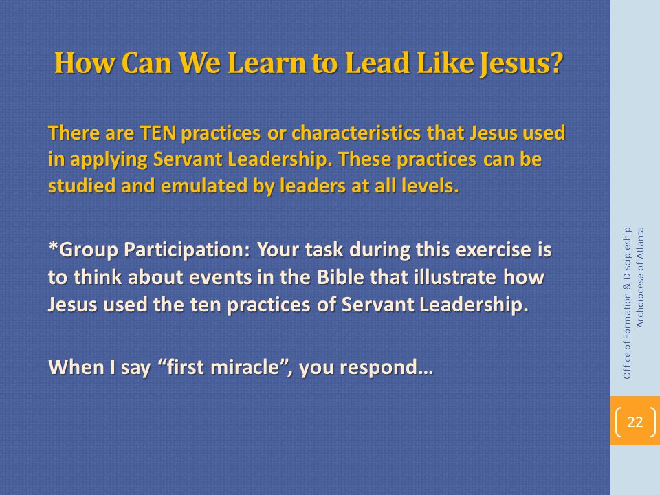 How Can We Learn to Lead Like Jesus