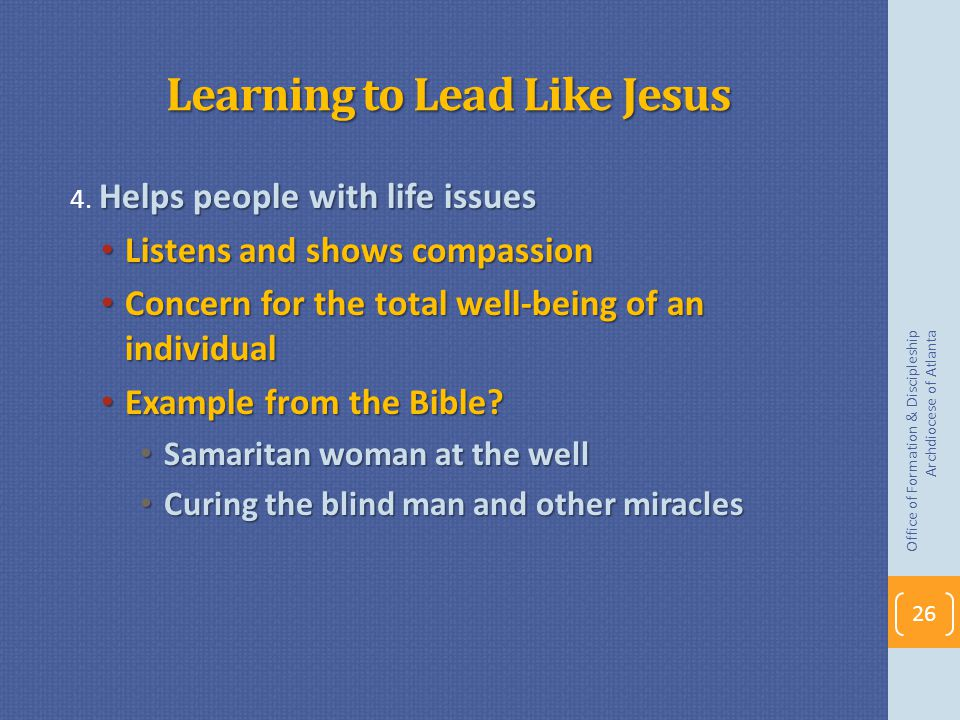 Learning to Lead Like Jesus