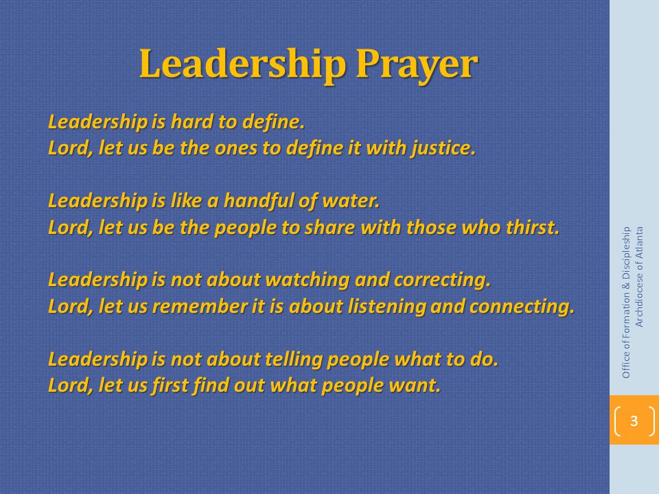 Leadership Prayer