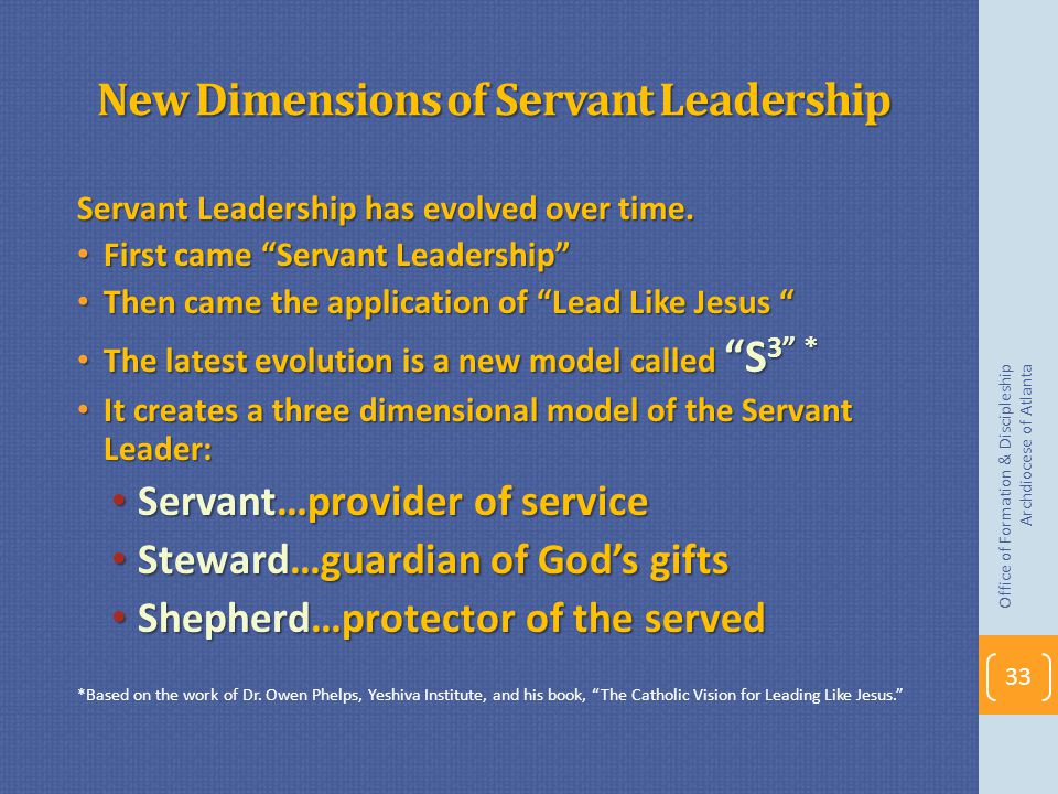 New Dimensions of Servant Leadership