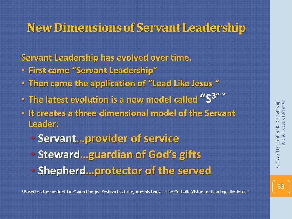 New Dimensions of Servant Leadership