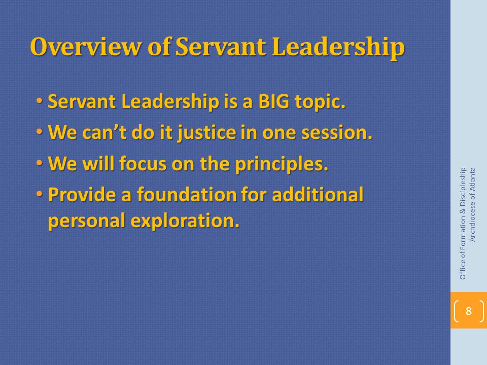 Overview of Servant Leadership