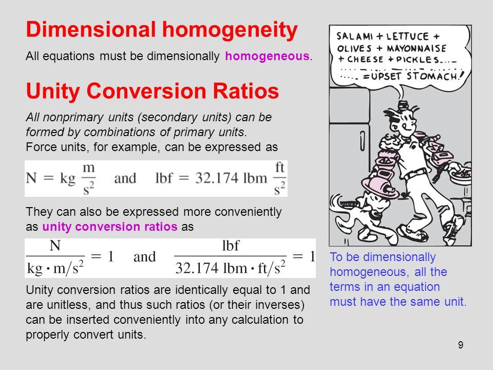 Unity Conversion Ratios