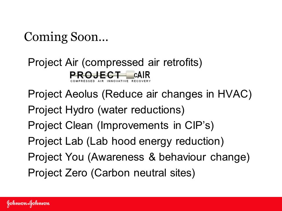 Coming Soon… Project Air (compressed air retrofits)
