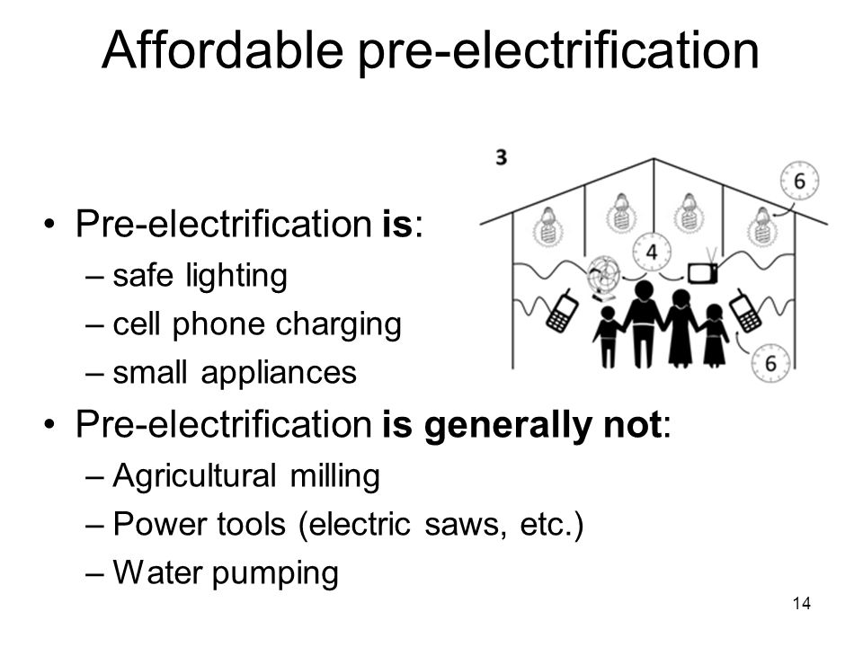 Affordable pre-electrification