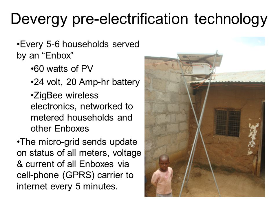 Devergy pre-electrification technology