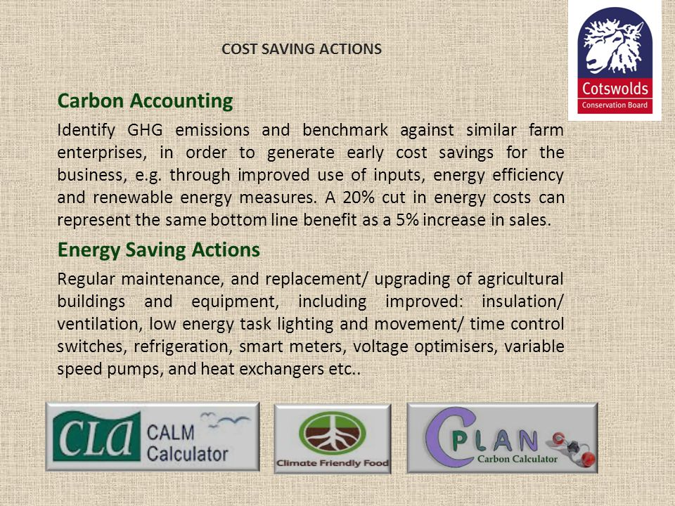 Carbon Accounting Energy Saving Actions