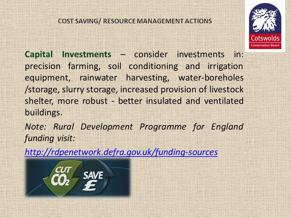 COST SAVING/ RESOURCE MANAGEMENT ACTIONS