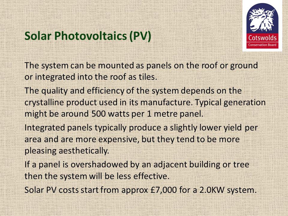 Solar Photovoltaics (PV)