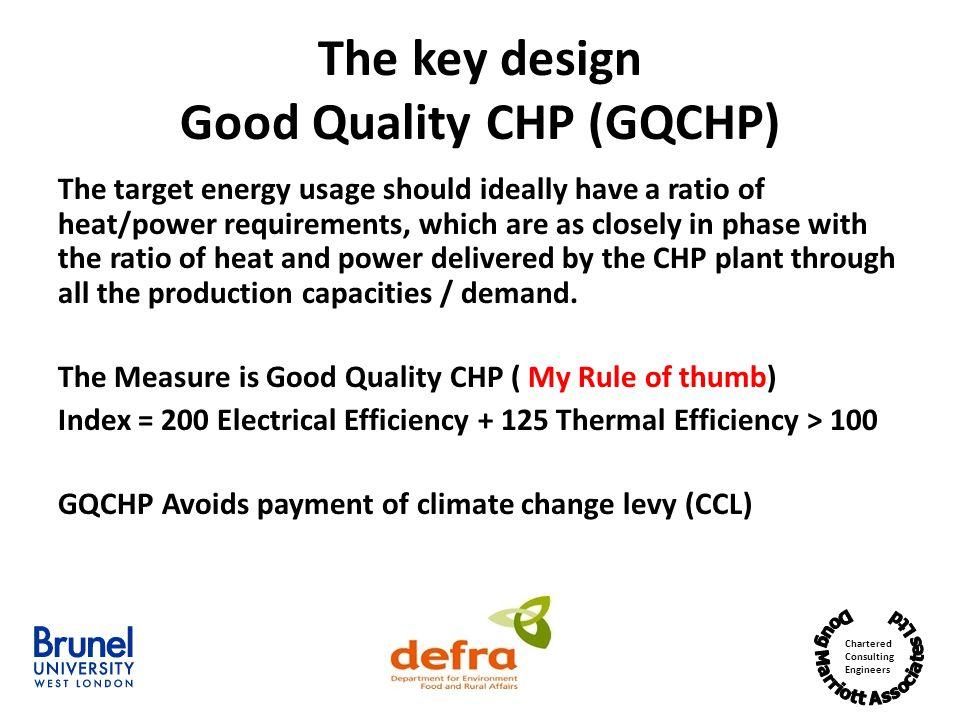 The key design Good Quality CHP (GQCHP)