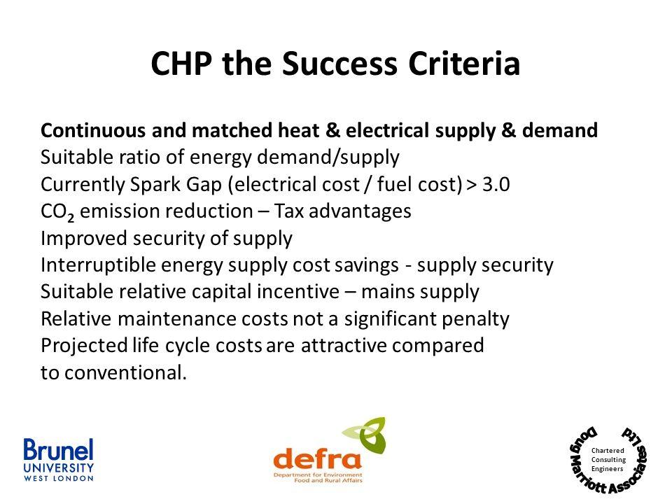 CHP the Success Criteria
