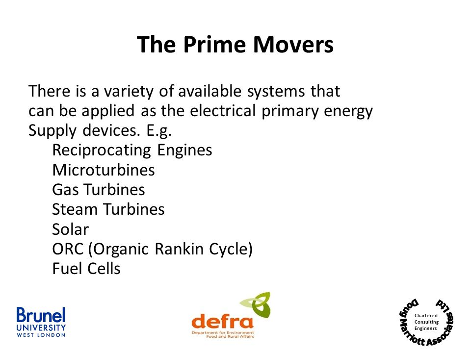 The Prime Movers There is a variety of available systems that