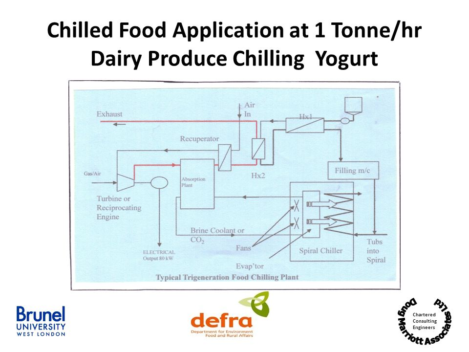 Chilled Food Application at 1 Tonne/hr Dairy Produce Chilling Yogurt