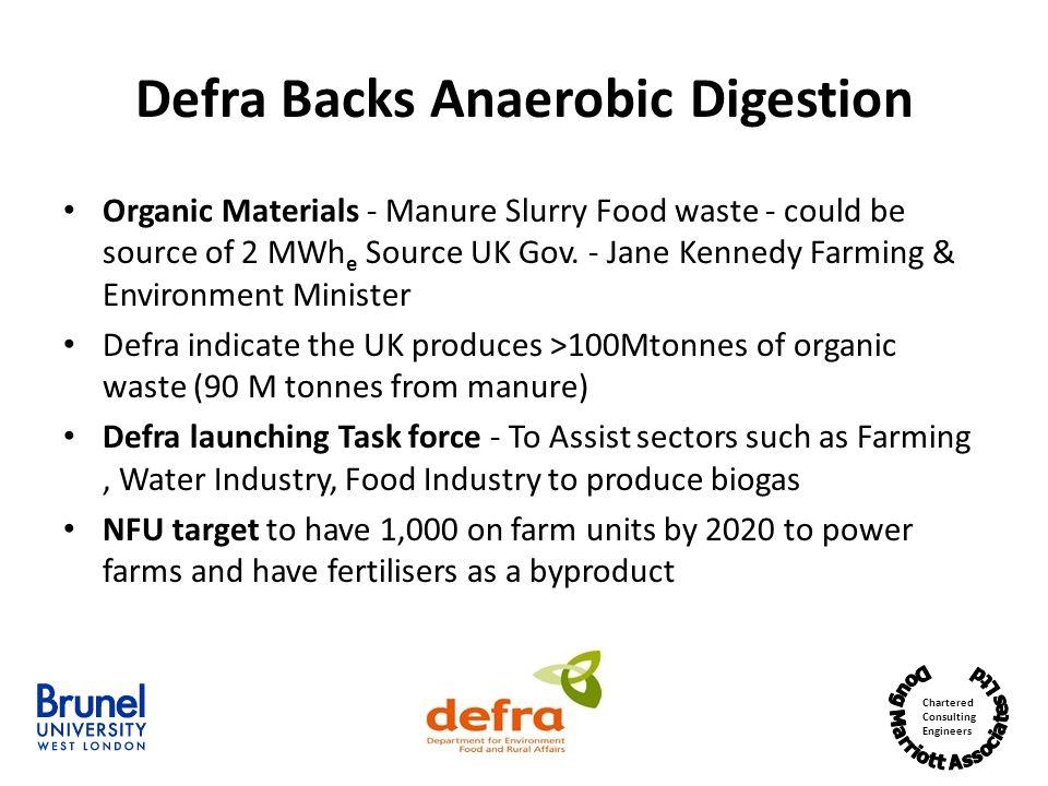 Defra Backs Anaerobic Digestion