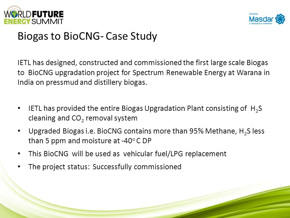 Biogas to BioCNG- Case Study