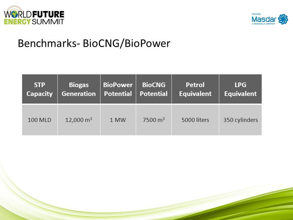 Benchmarks- BioCNG/BioPower