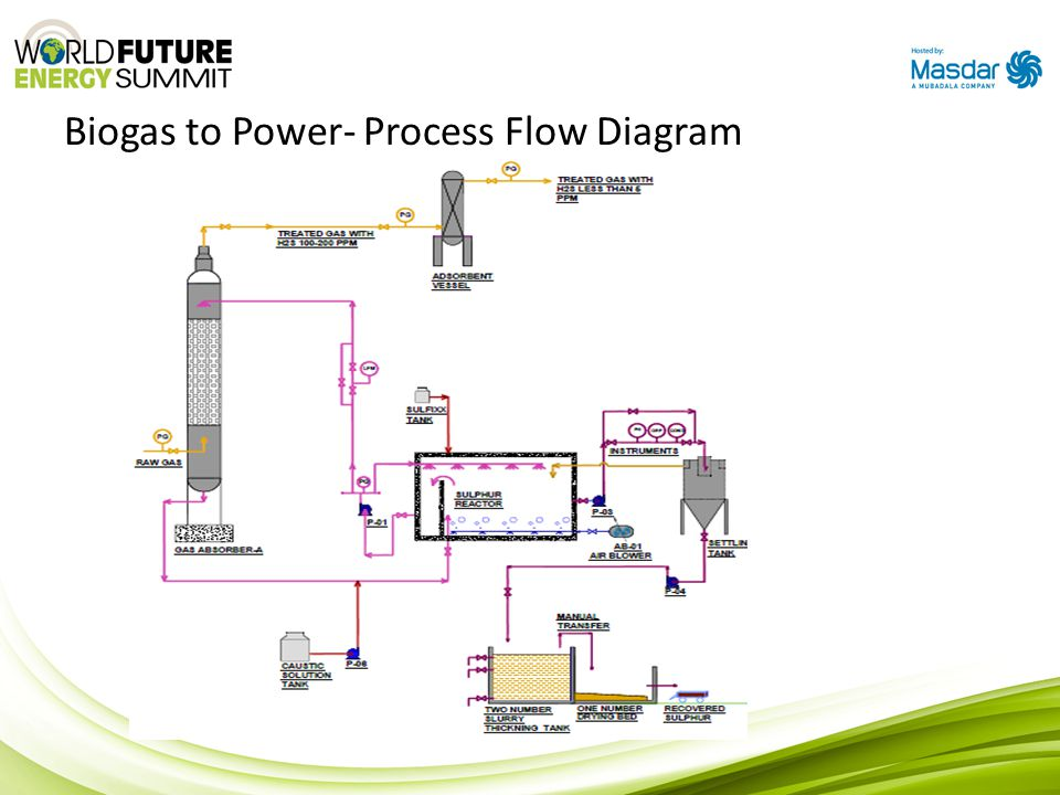 Biogas to Power- Process Flow Diagram