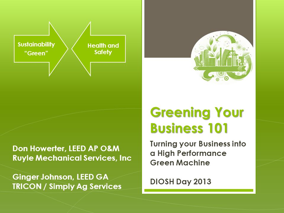 Greening Your Business 101