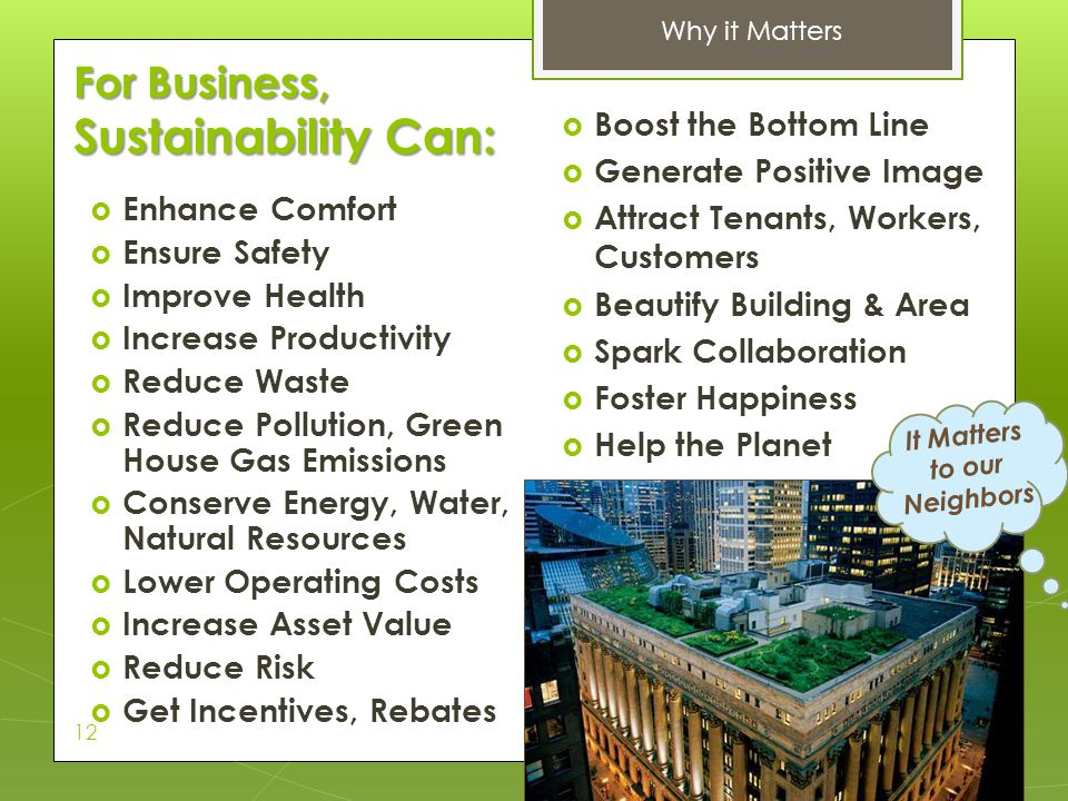 For Business, Sustainability Can: