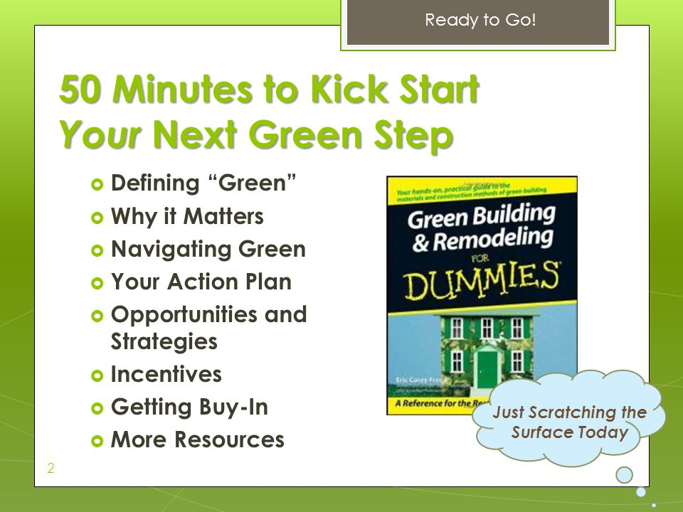 50 Minutes to Kick Start Your Next Green Step