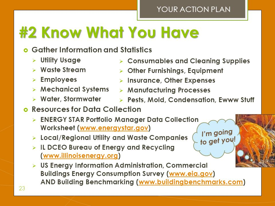 #2 Know What You Have YOUR ACTION PLAN