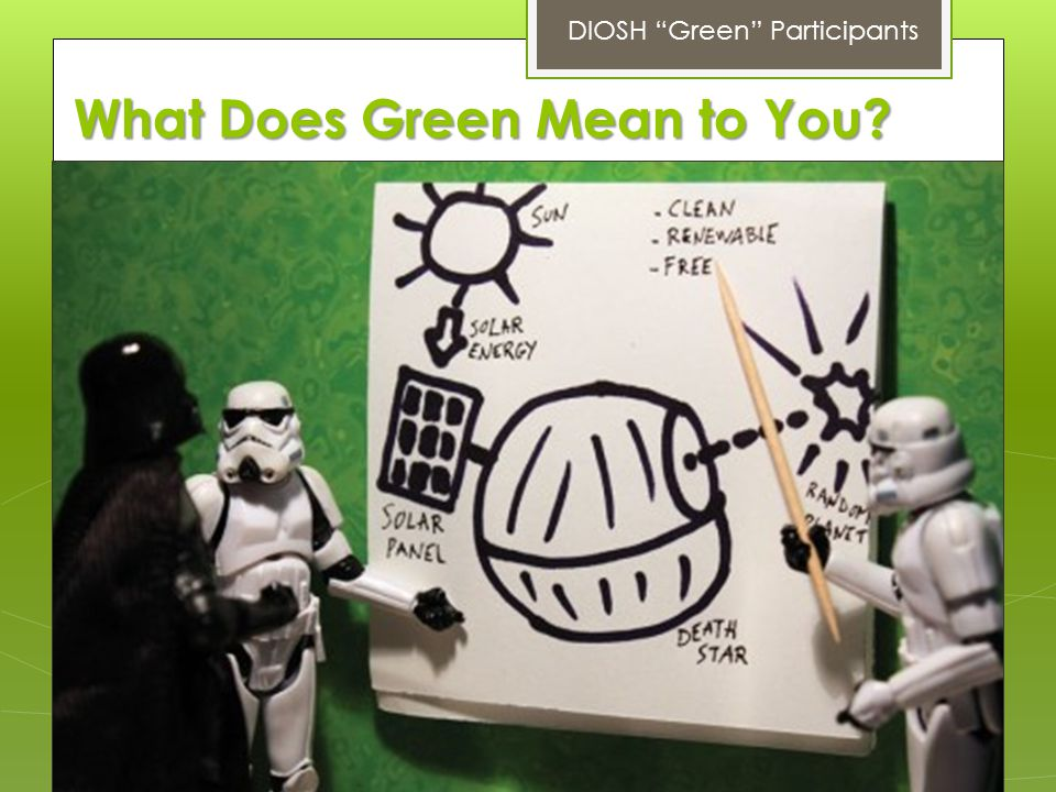 What Does Green Mean to You