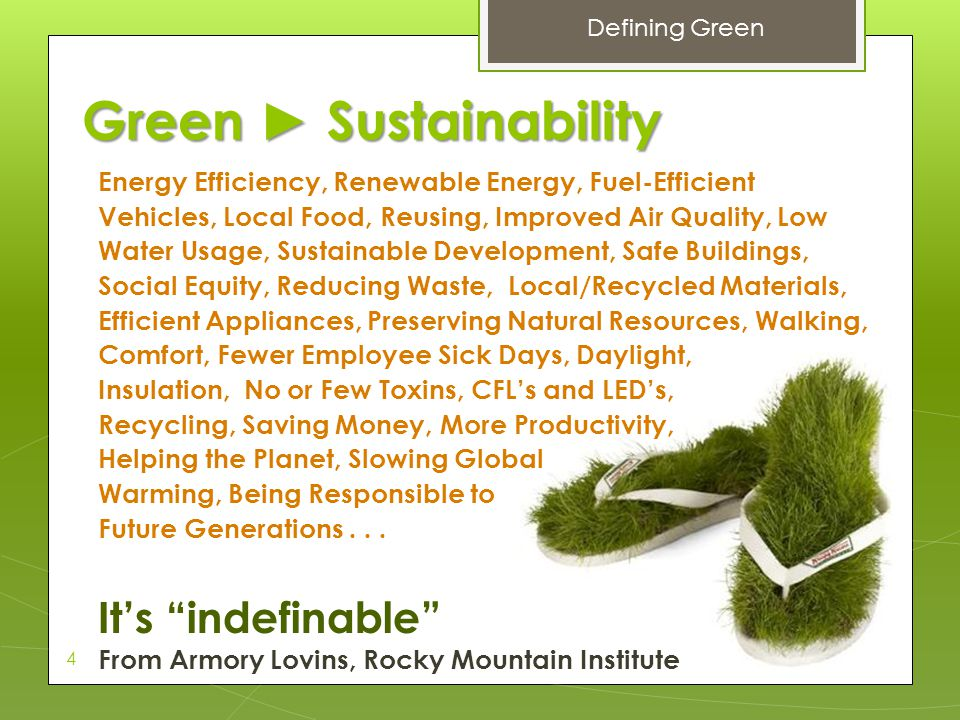 Green ► Sustainability