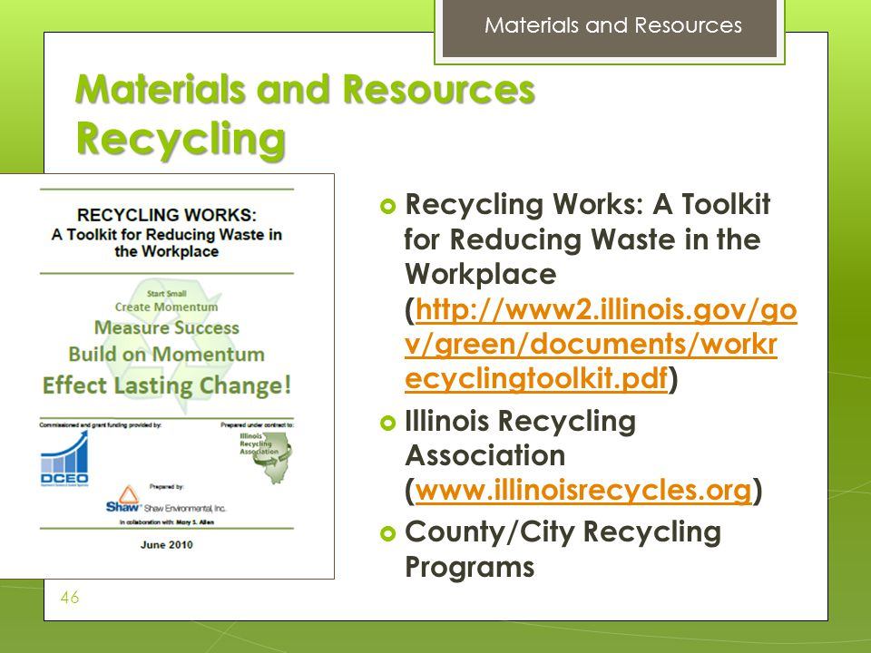 Materials and Resources Recycling