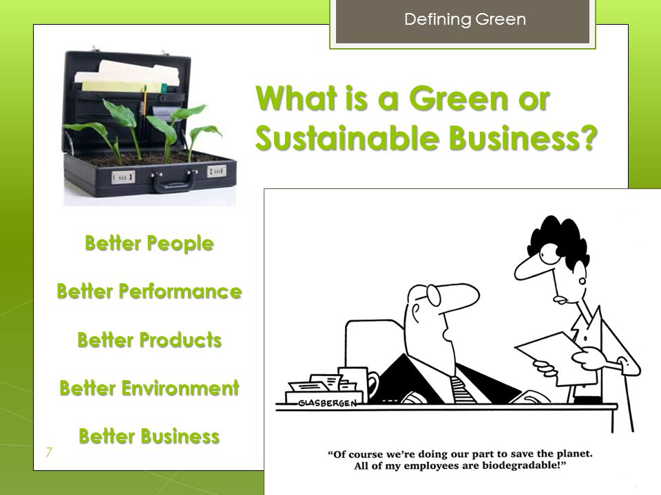 What is a Green or Sustainable Business
