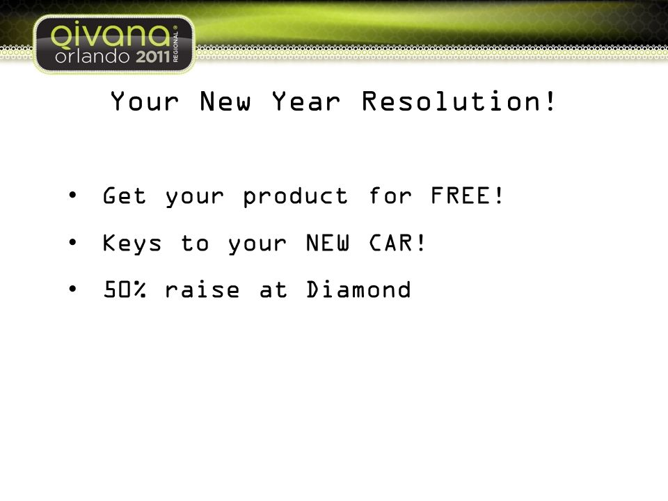 Your New Year Resolution!