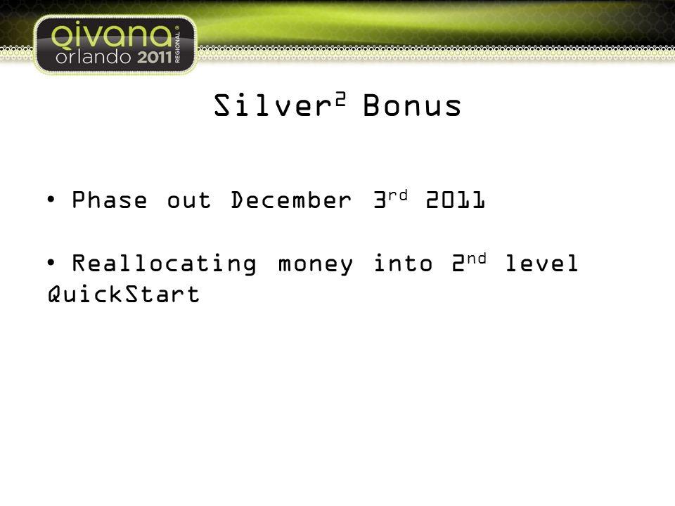 Silver2 Bonus Phase out December 3rd 2011