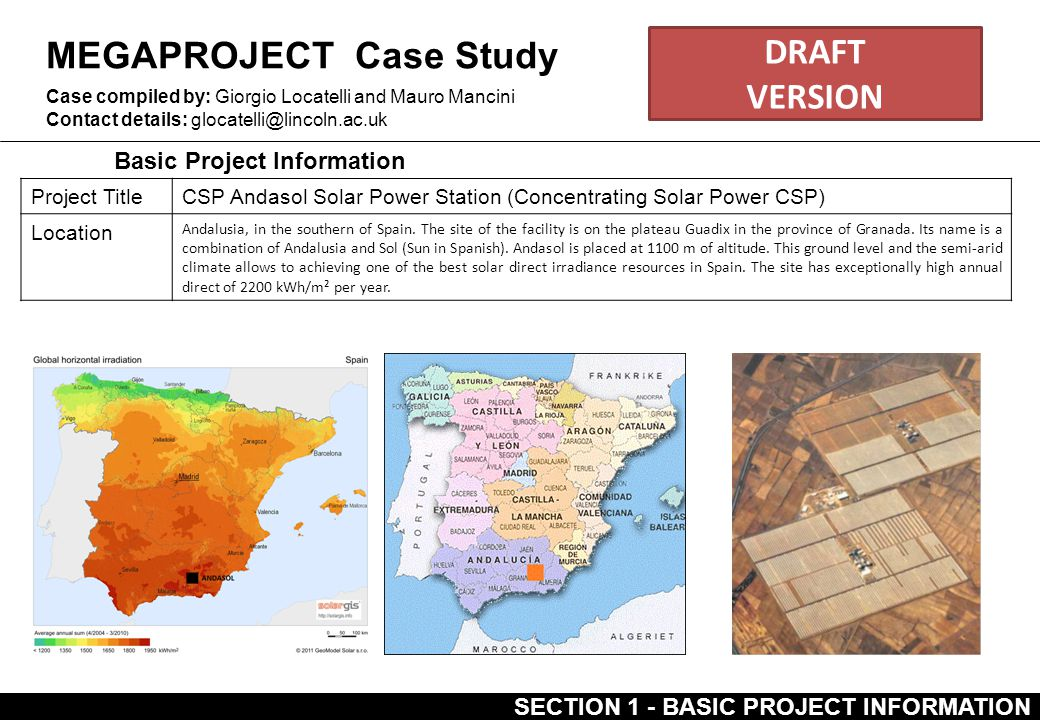 MEGAPROJECT Case Study DRAFT VERSION