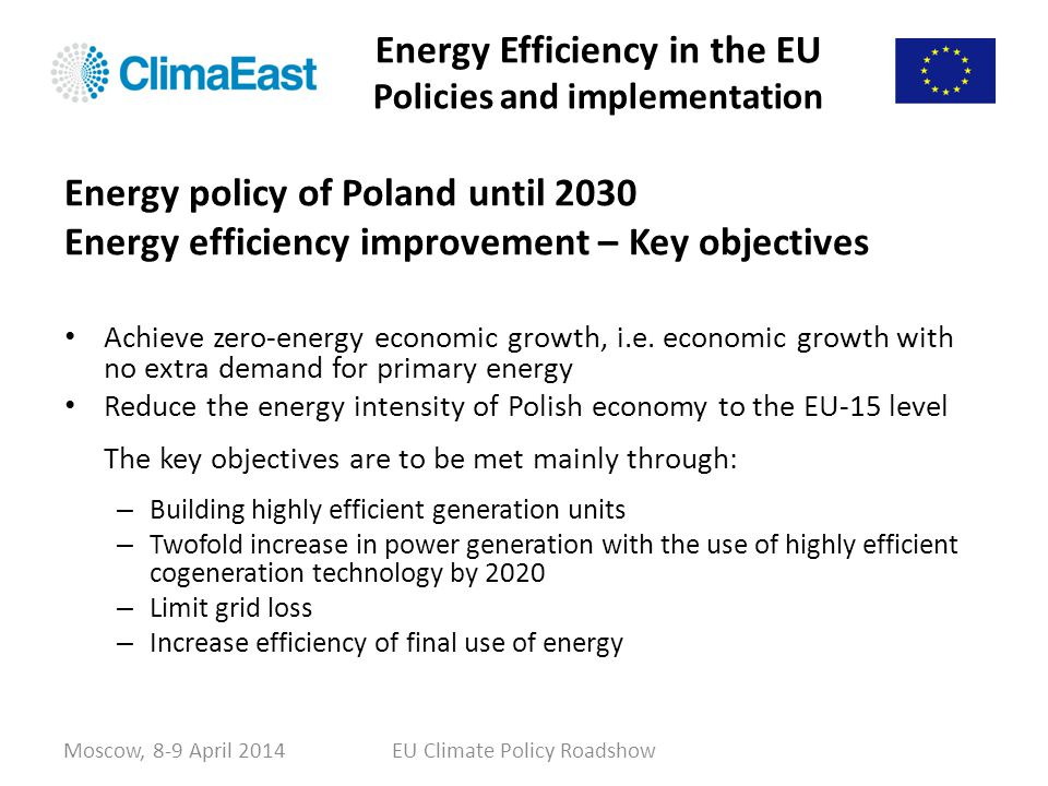 Energy Efficiency in the EU Policies and implementation