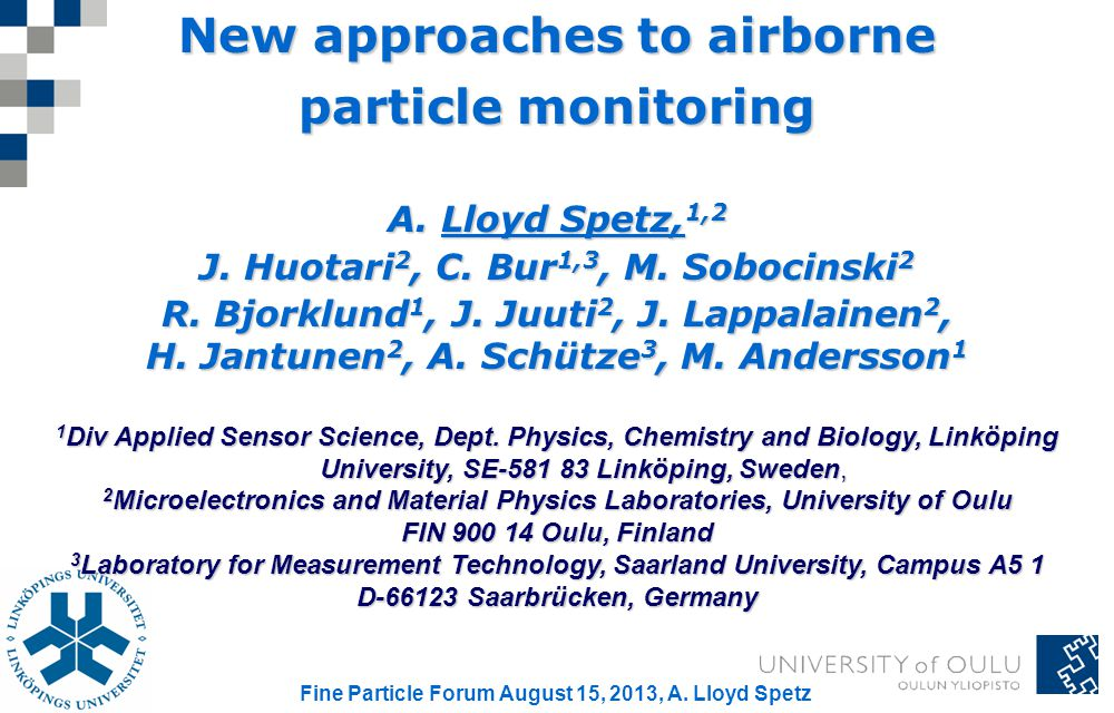 New approaches to airborne particle monitoring