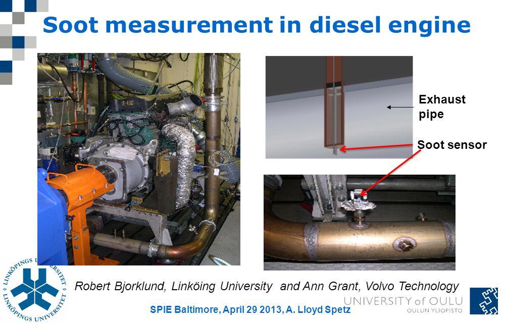 Soot measurement in diesel engine