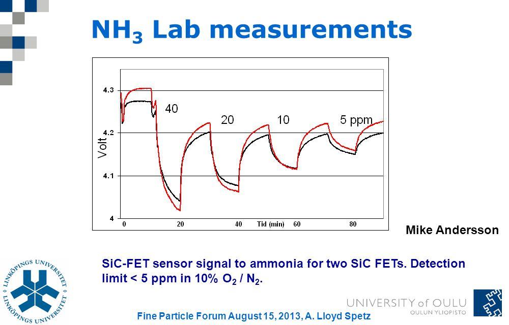 Fine Particle Forum August 15, 2013, A. Lloyd Spetz