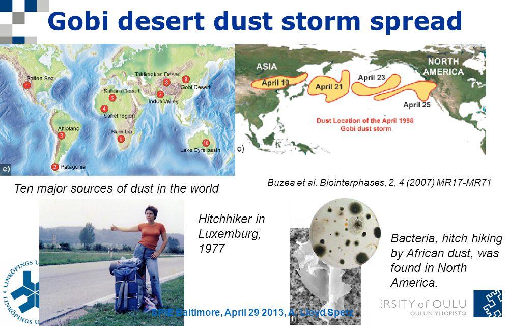Gobi desert dust storm spread
