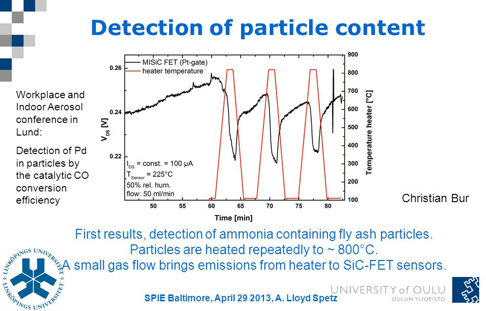 Detection of particle content