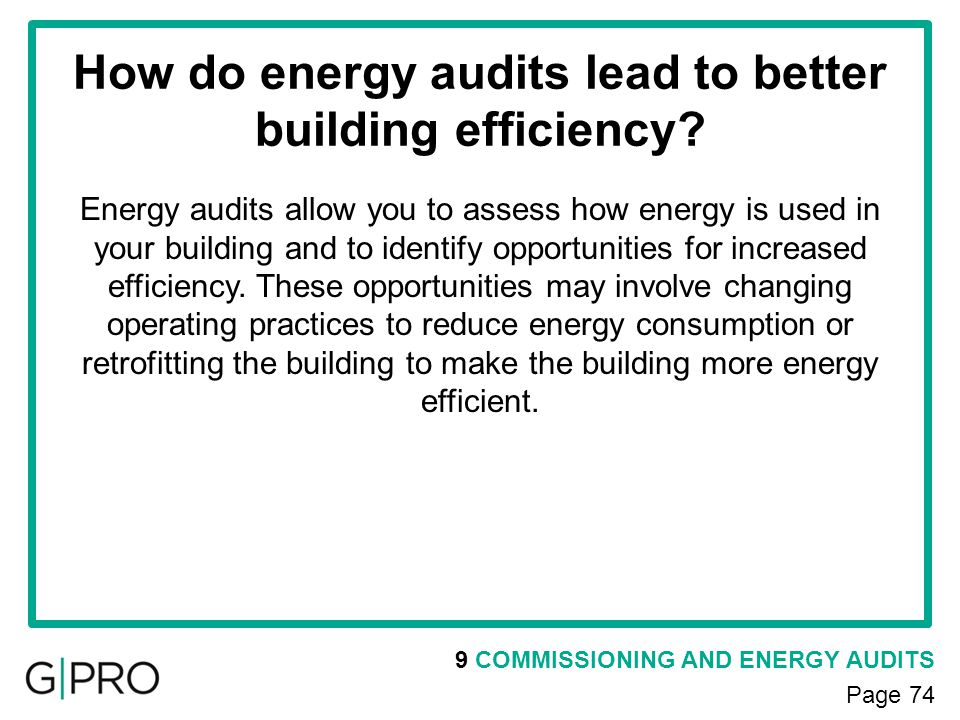 How do energy audits lead to better building efficiency