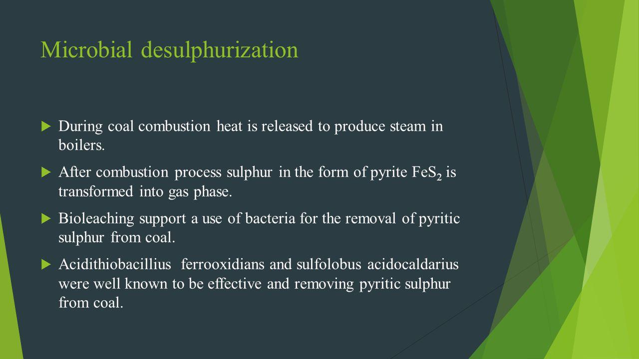 Microbial desulphurization