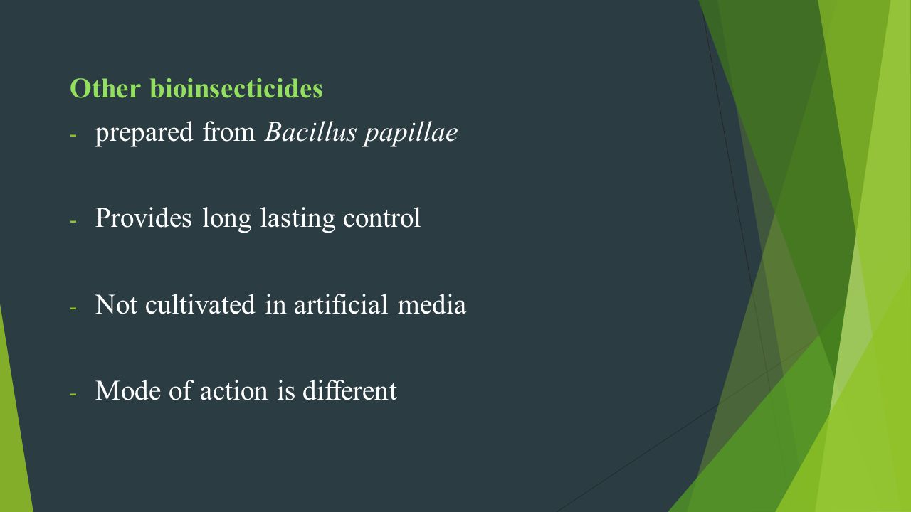 Other bioinsecticides