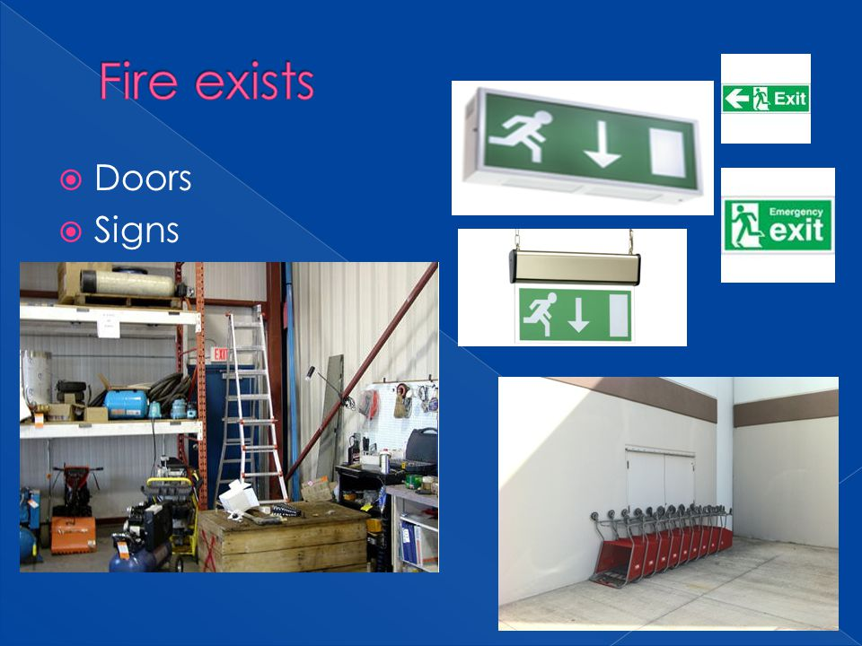 Fire exists Doors Signs