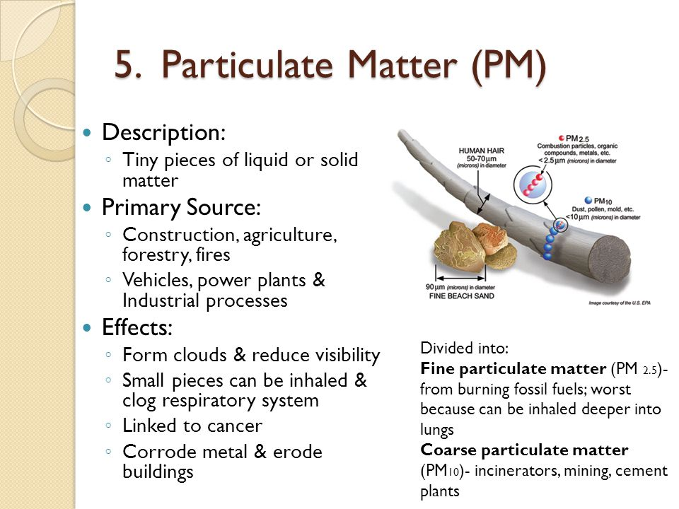 5. Particulate Matter (PM)