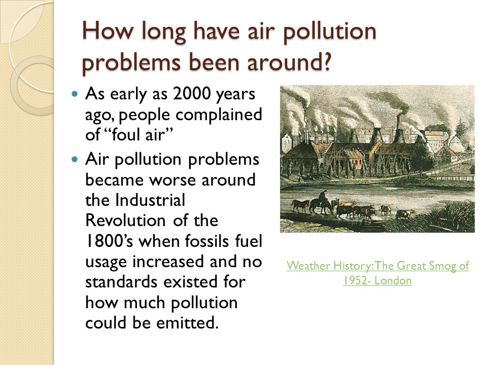 How long have air pollution problems been around