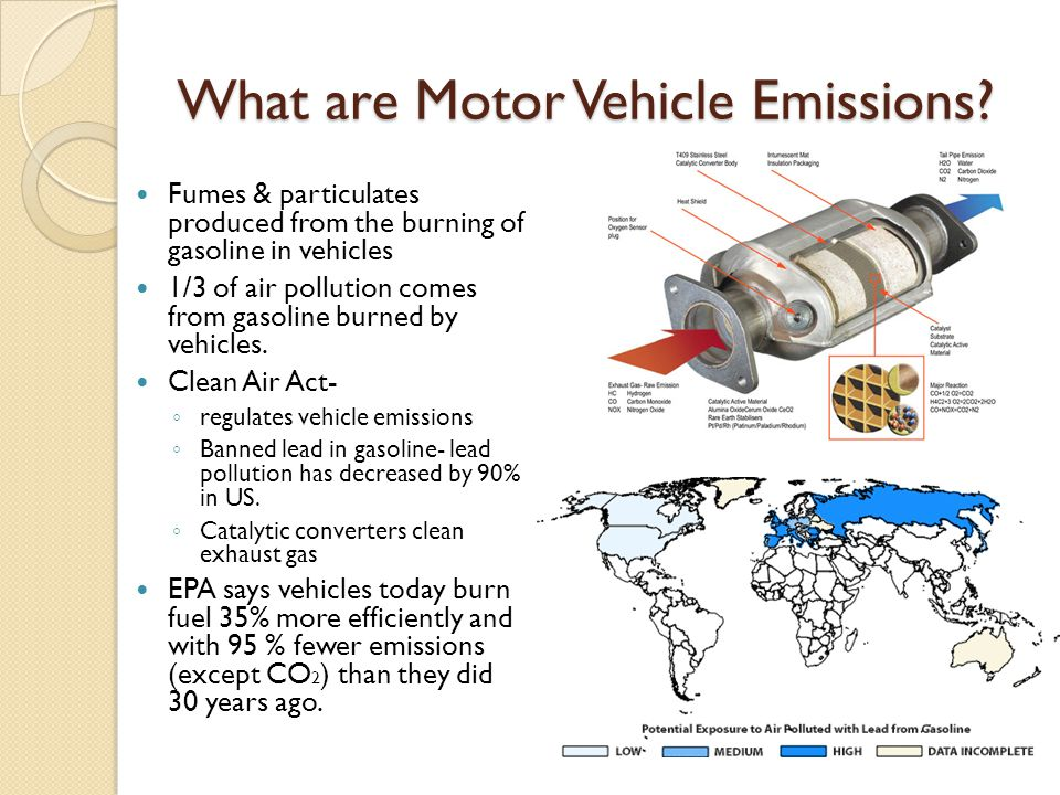 What are Motor Vehicle Emissions